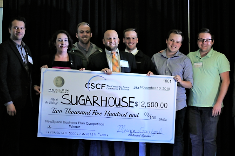Sugarhouse Aerospace Wins Fall 2018 NewSpace Business Plan Competition in Austin TX